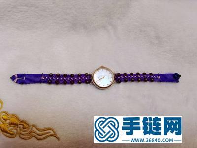 中国结编绳应用_简单DIY创意编法手表表带