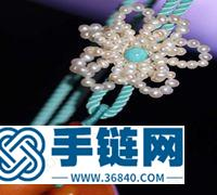 ins风珍珠花朵项链扣编织