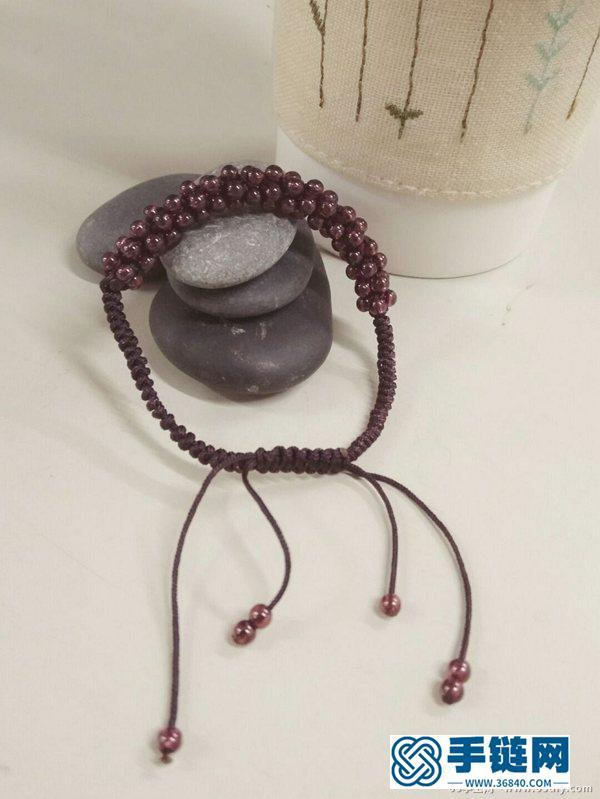 石榴石结绳手链的编法