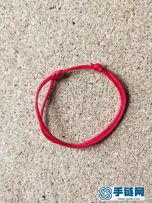 可以调节绳链长短的活扣的编法