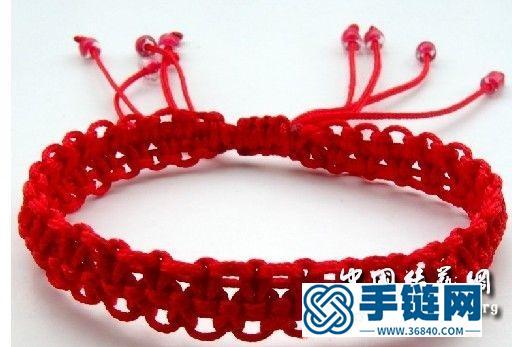 一款适合初学者的红色手链