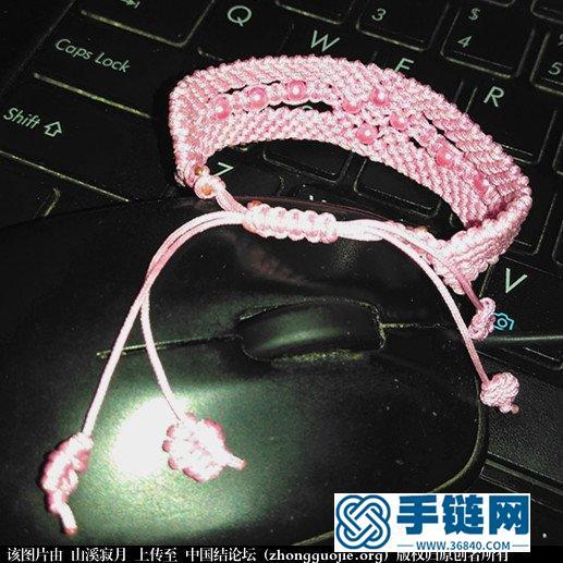 粉红手链教程