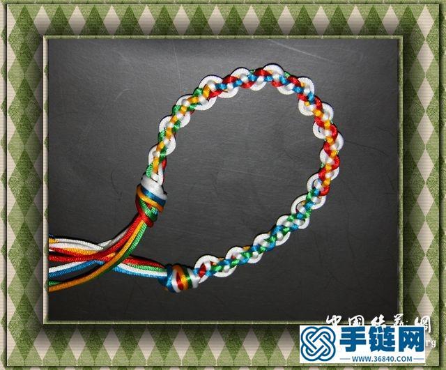 石头的五彩绳