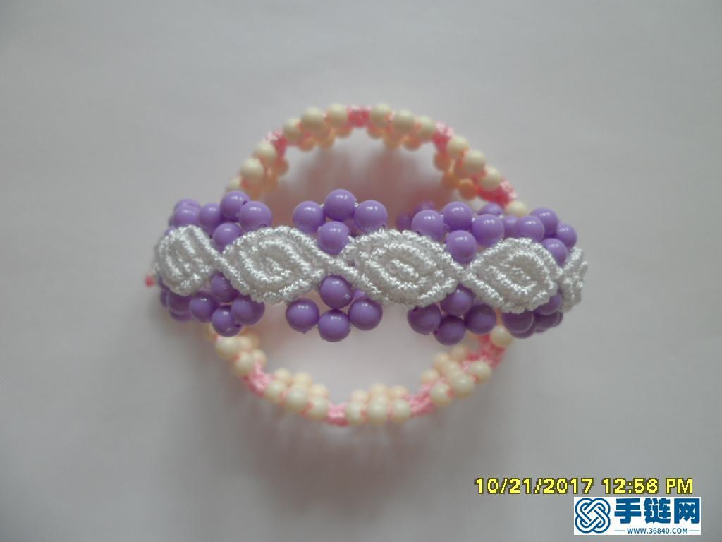 更新版串珠手绳(3)—— 玫瑰花蕾款