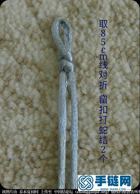 简单清新花朵手绳