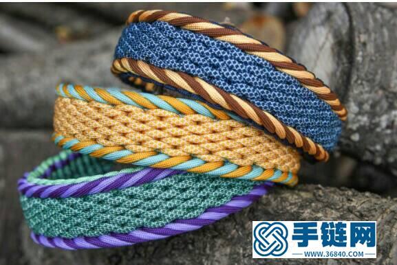 宽形伞绳手链教程