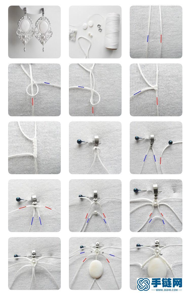 包石珍珠耳饰