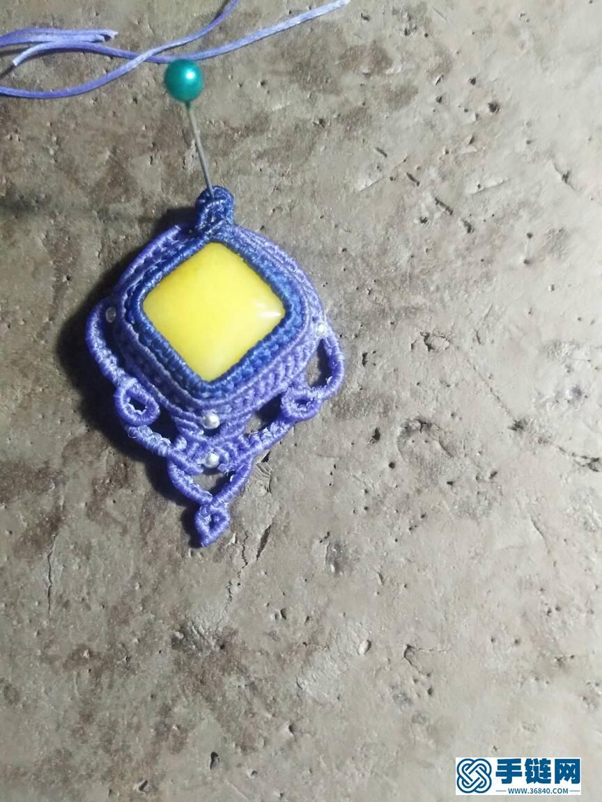 仿外网包石项链坠