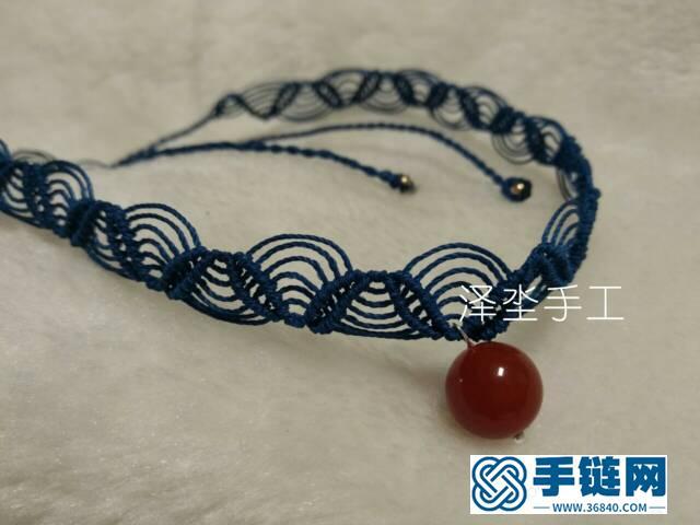 叶子花纹蕾丝感颈链编织教程