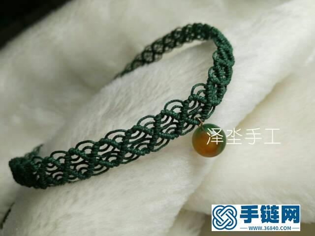 菱形花纹蕾丝感颈链编织教程