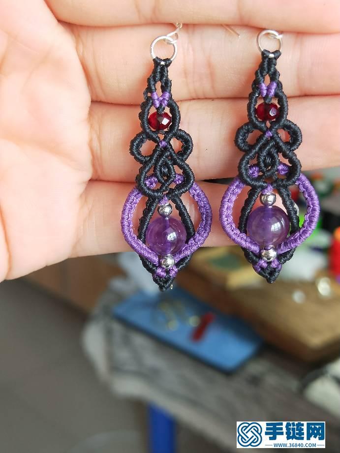 紫水晶耳坠