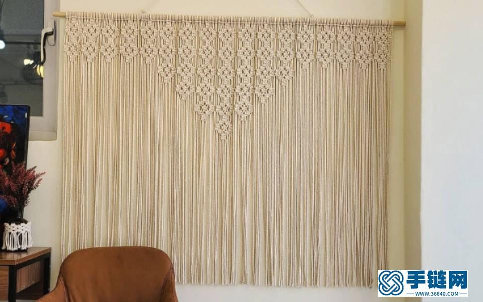 手工教程 | Macrame编织简单又好看的大型家居挂毯装饰