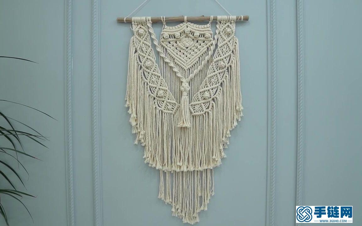 Macrame编织多层挂毯墙壁装饰