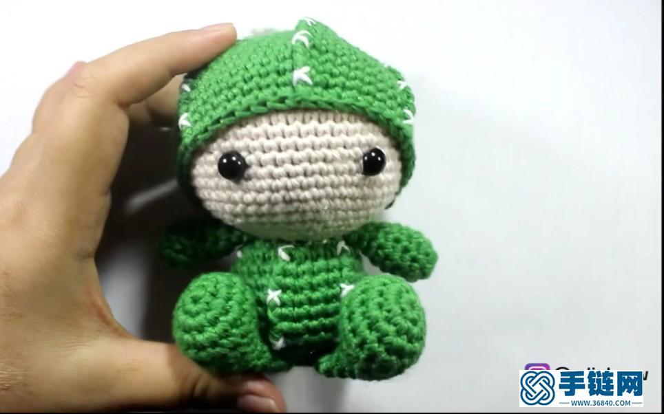 钩针编织仙人球-仙人掌小玩偶
