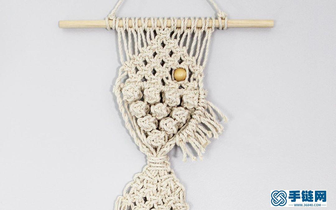 Macrame编织小鱼壁挂装饰