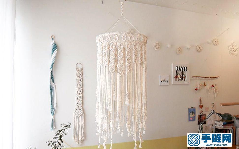 Macrame编织波西米亚灯罩装饰