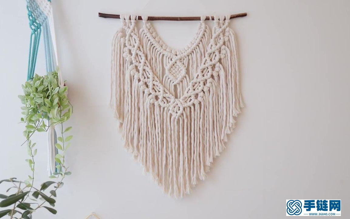 Macrame编织波西米亚清新挂毯装饰