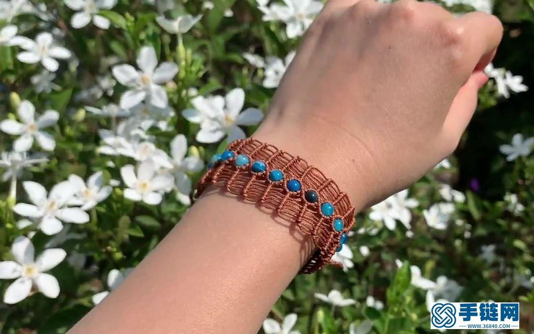 鱼骨手链Macrame bracelet tutorial- Macrame Fishbone Bracelet with Beads