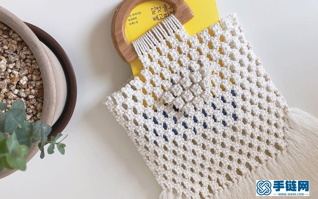 Macrame编织流苏手提包包,给妈妈准备一份特别的礼物-