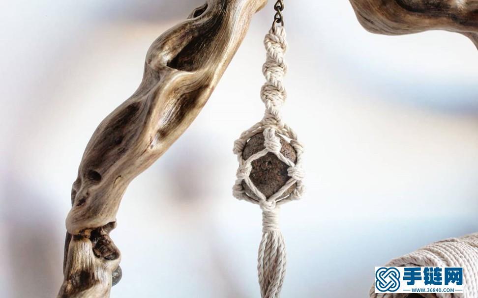 DIY手工编织包石钥匙扣-挂件挂饰教程