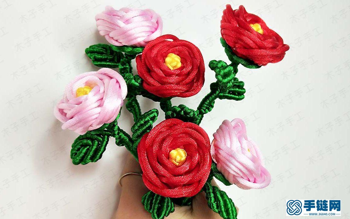 教师节编绳玫瑰花做法视频教程