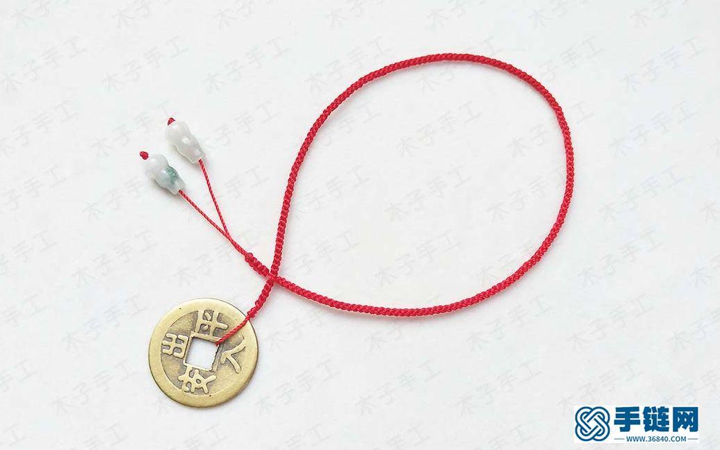 第一次做红绳脚链教程,虽然做起来简单,要做好还得用心哦