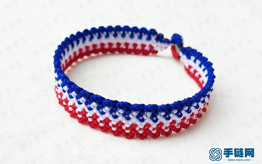 这款手链看起来真的很复杂,没想到就是简单的雀头结做的