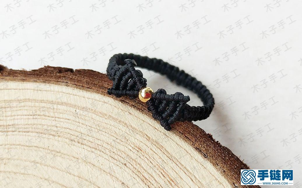 一款美美的蝴蝶结戒指,详细的手工编绳教程