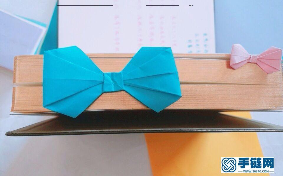 简单又实用的蝴蝶结书签,一起来装饰你的书本吧