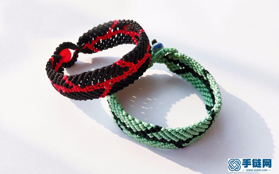 用绳子编了一款鱼骨手链,朋友都忍不住来请教