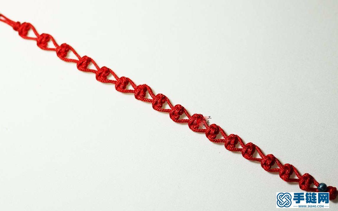 手把手教你如何手工编织心形红绳手链,简单又漂亮