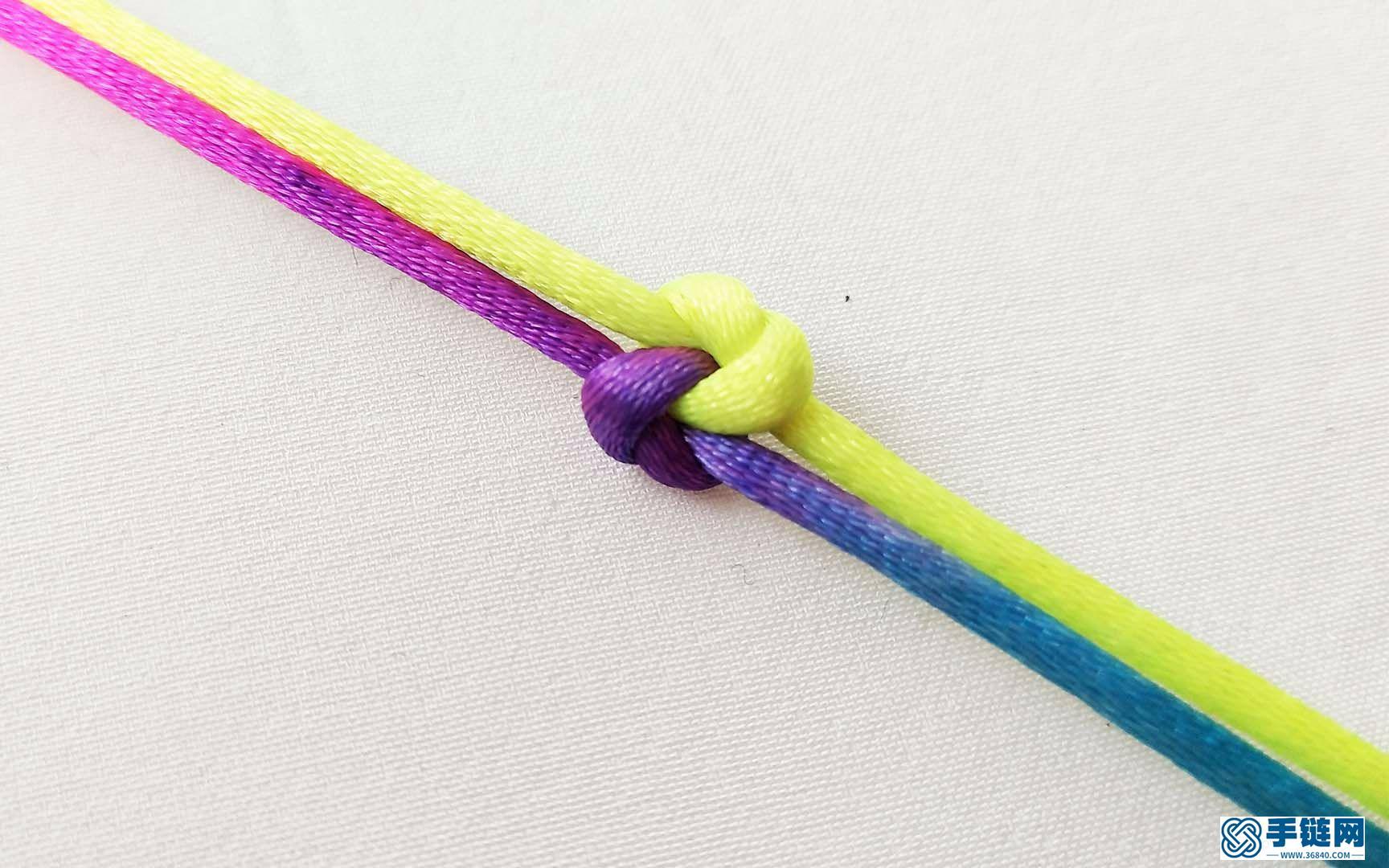 超简单同心结红绳编法技巧, 学会你也能编出漂亮的手链