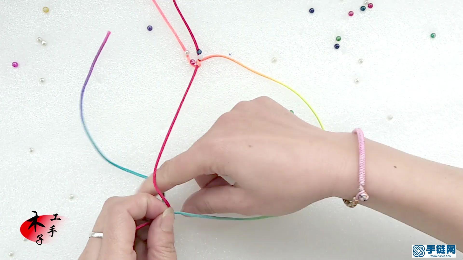 学会斜卷结,菜鸟都能编织高大上的红绳手链