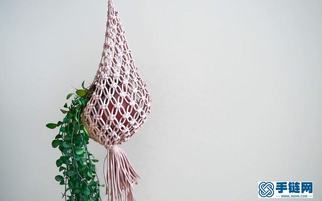 Macrame编织植物吊篮挂兜
