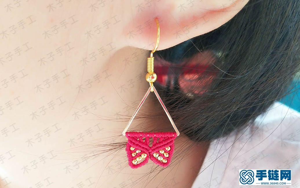 万圣节做一款这样的三角形耳坠,提高你的回头率