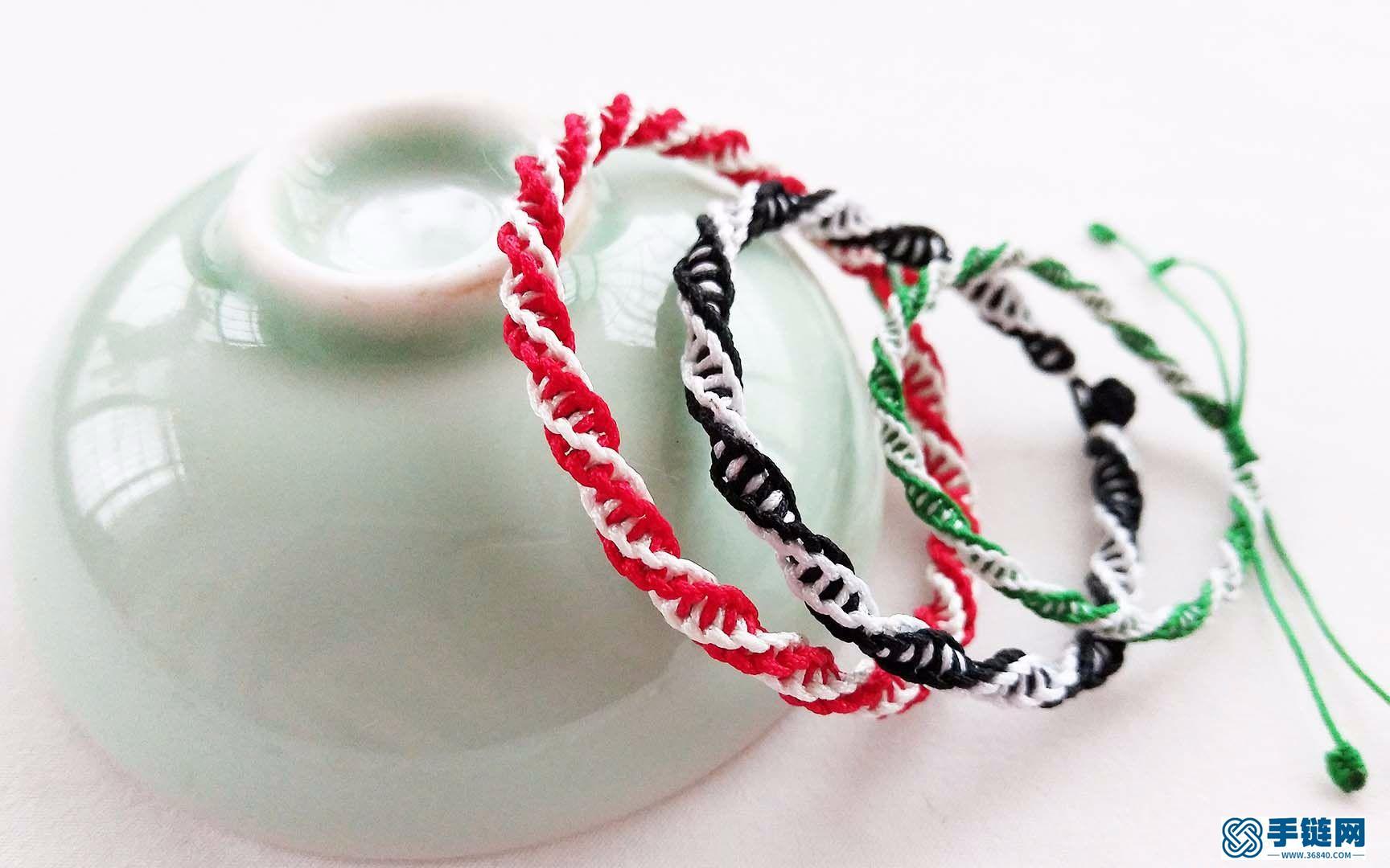 一分钟就能学会的红绳手链,款式步骤简单易学