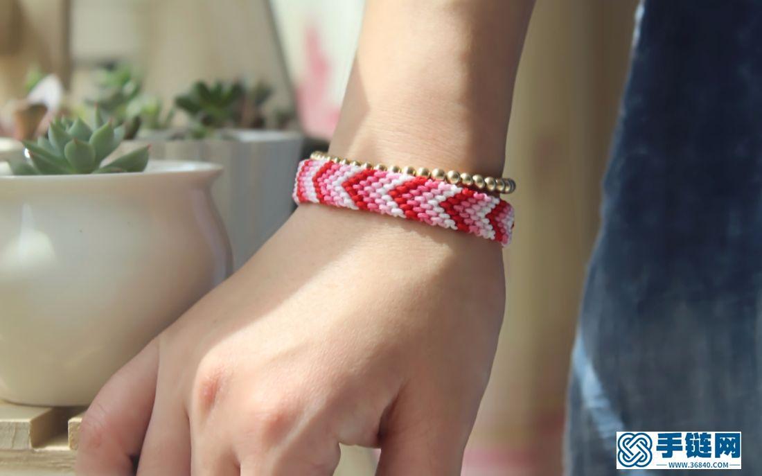 邂逅 渐变色波西米亚手绳 其实就是最基础的斜卷结啦 做了两条凑一对儿情侣手绳