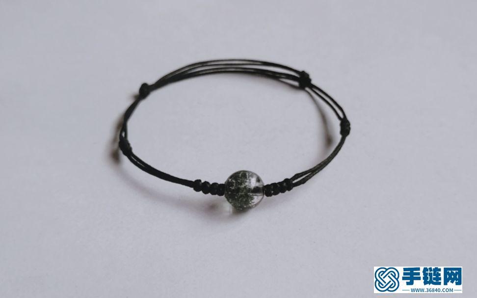 绿幽灵水晶简约手绳