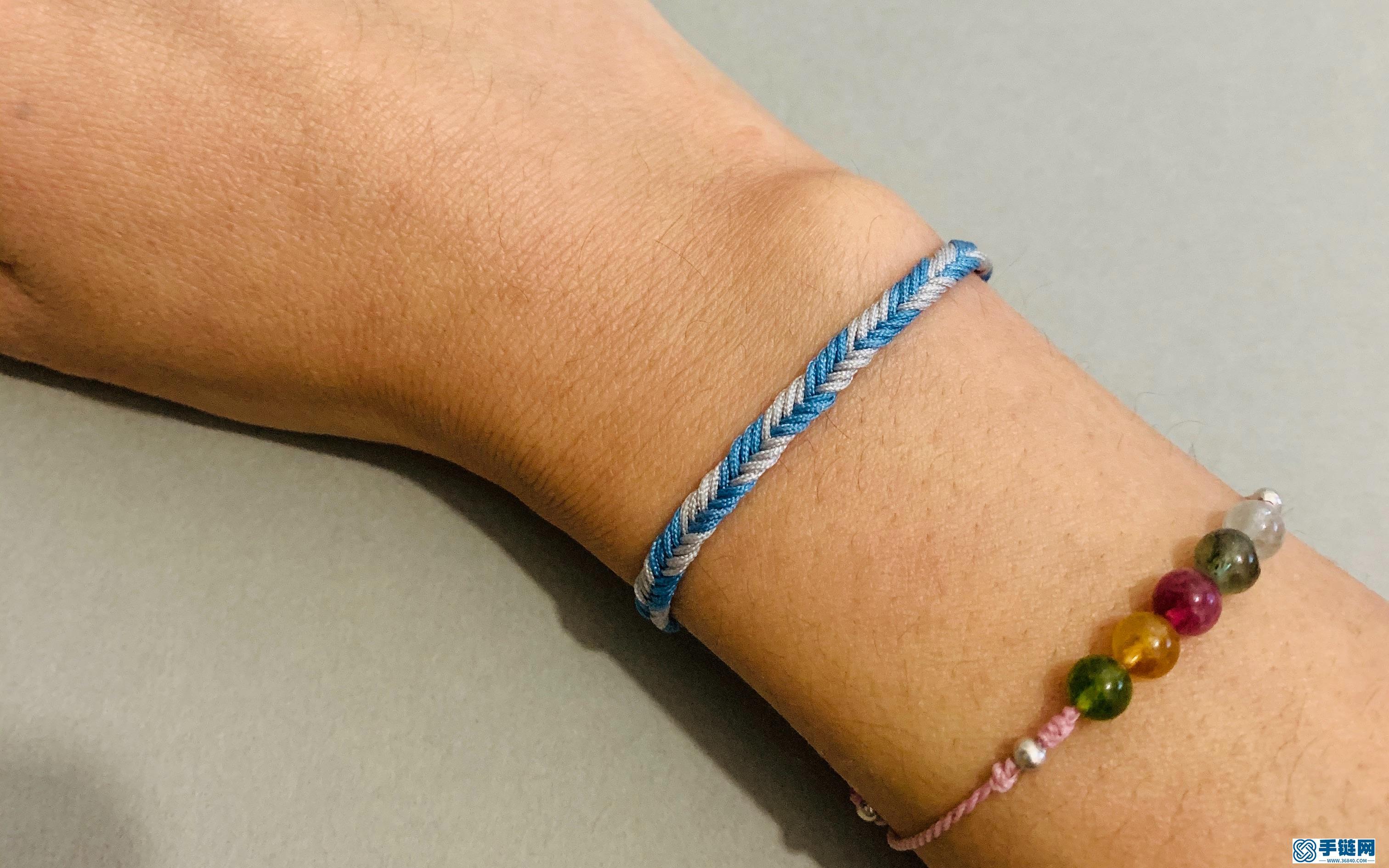 八股·鱼骨纹·双色素手绳详细教程