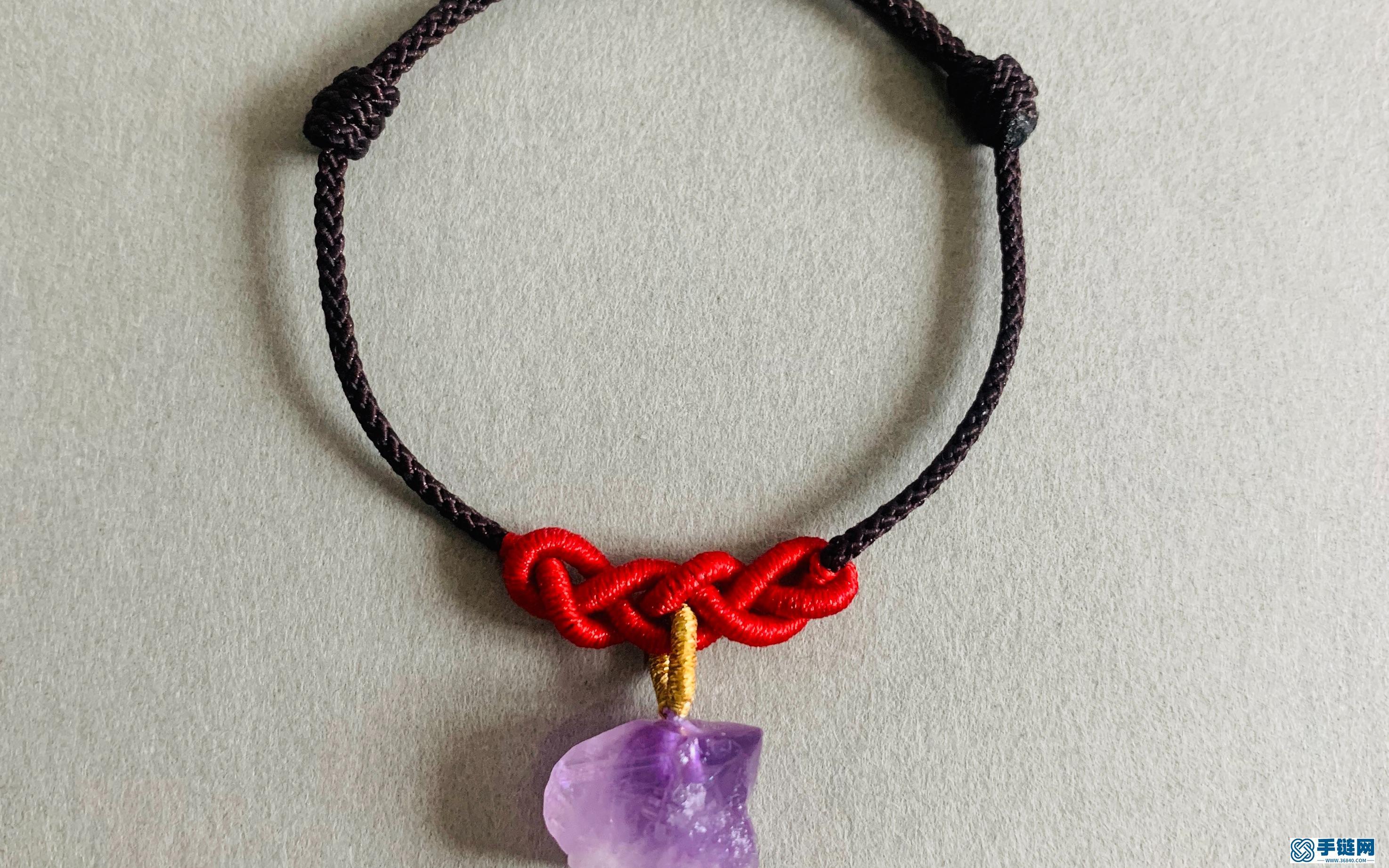 麦穗结紫晶手绳详细教程