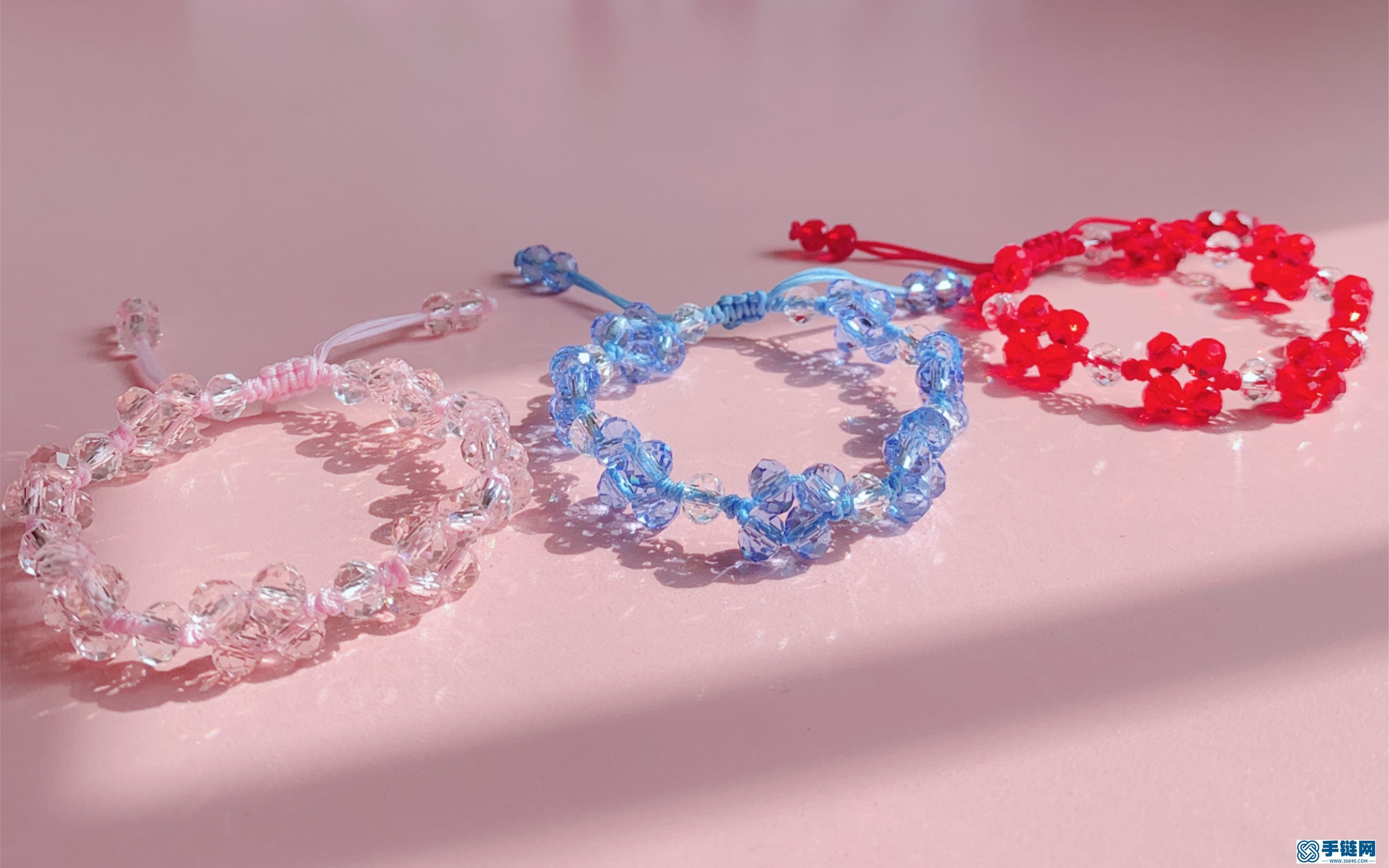 7 教你做一条夏日小清新水晶手绳