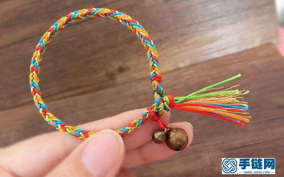 快端午节了,给大家做一个五彩手绳的视频教程,五彩长命缕,