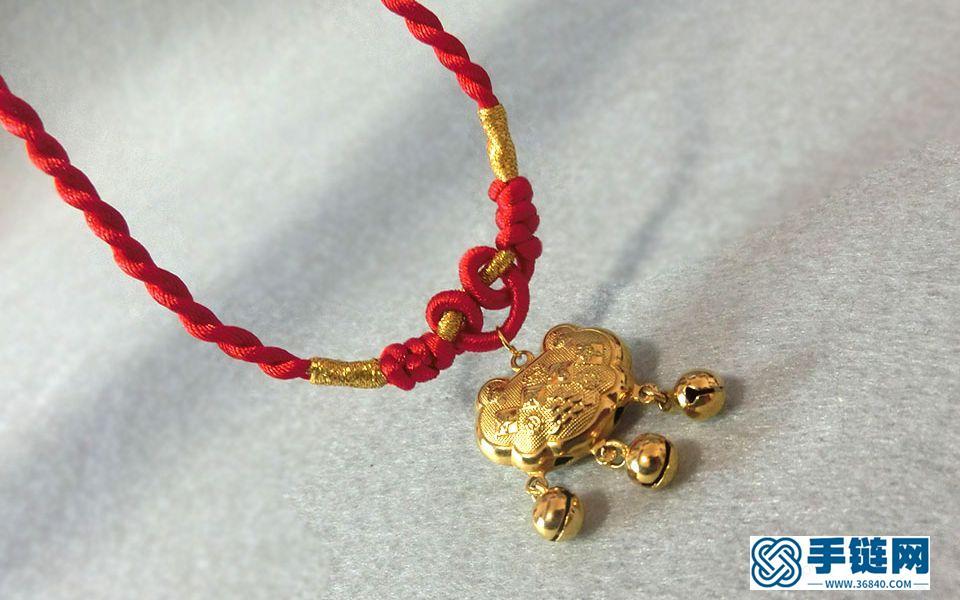 编个漂亮的项链绳,编织教程很简单,一看就会,包含吊坠打结法