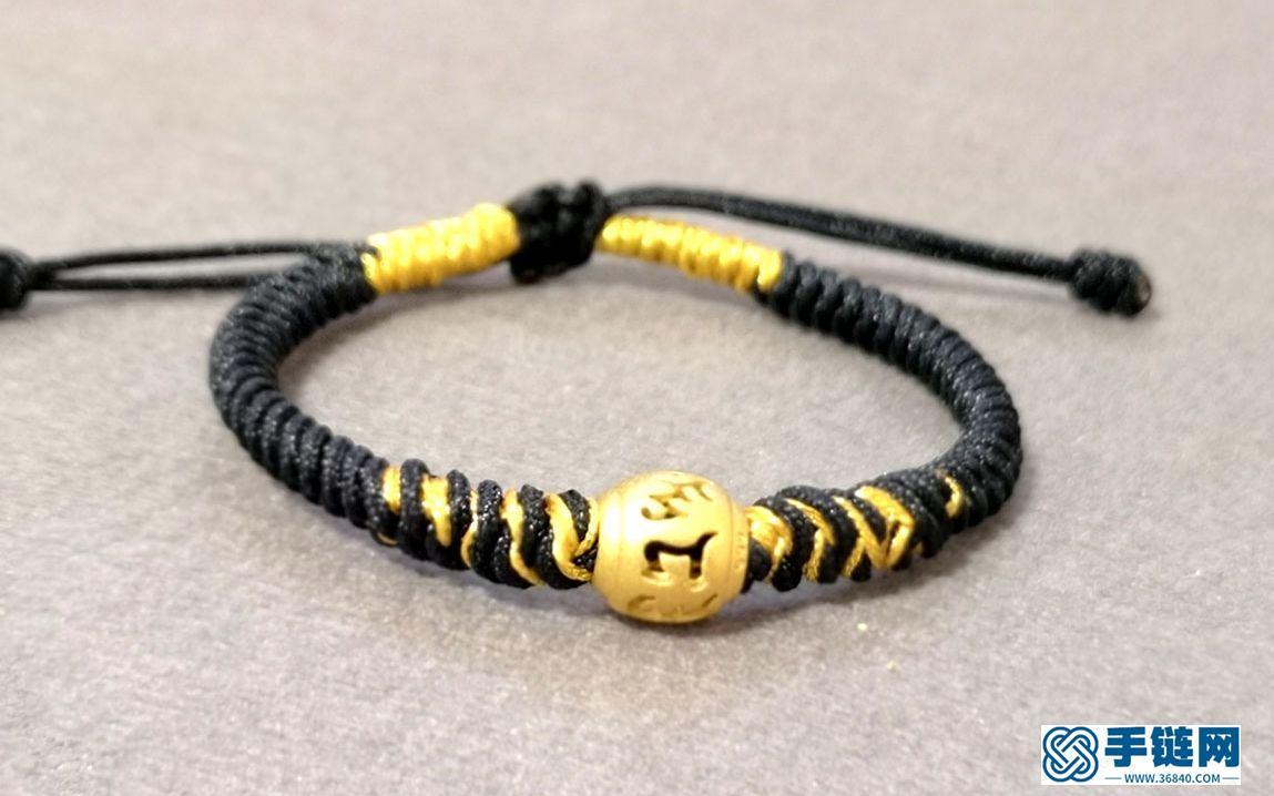 【良缘】金刚结红绳转运珠手链编织教程,DIY。
