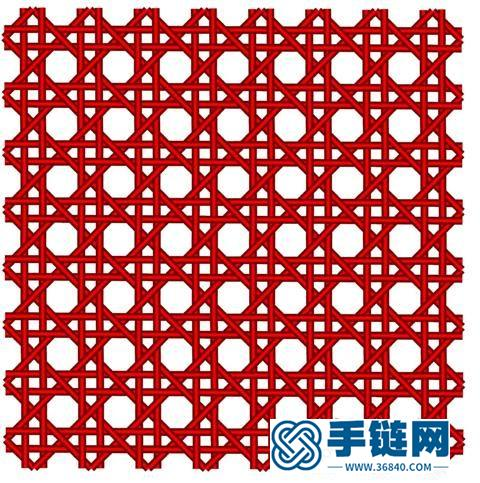 筛孔编织在中国结编织的应用