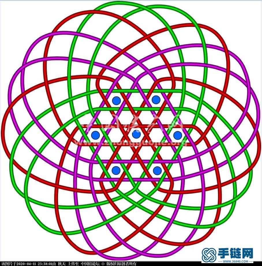 七个六瓣花为芯的花股结