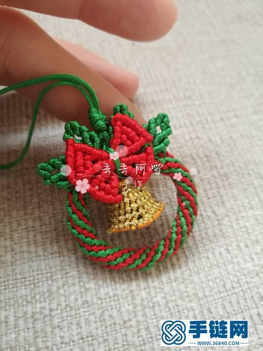圣诞花环编绳教程-完整编法步骤