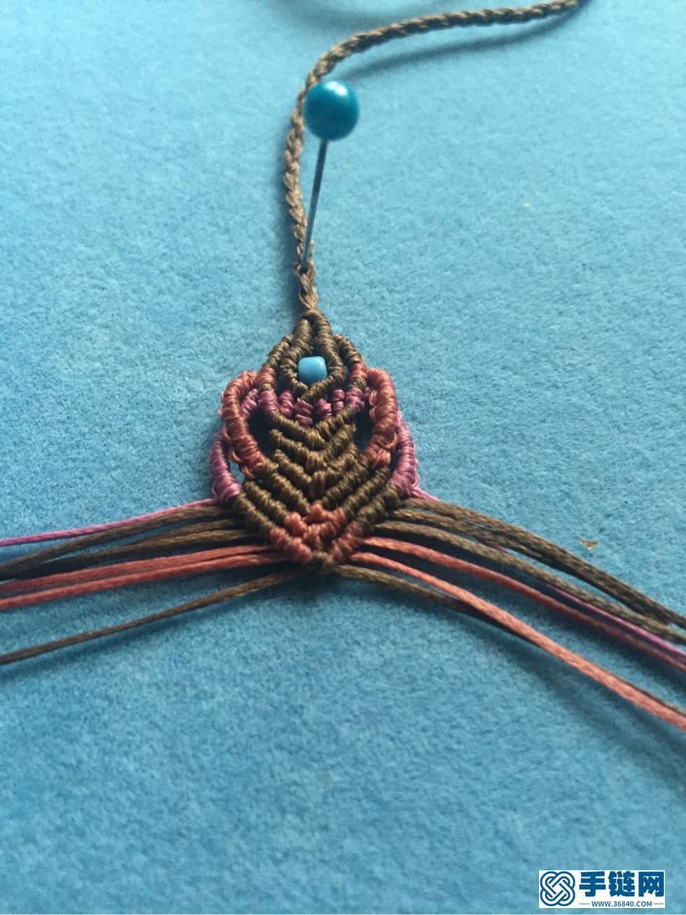 心连心尾扣编绳教程-完整编法步骤