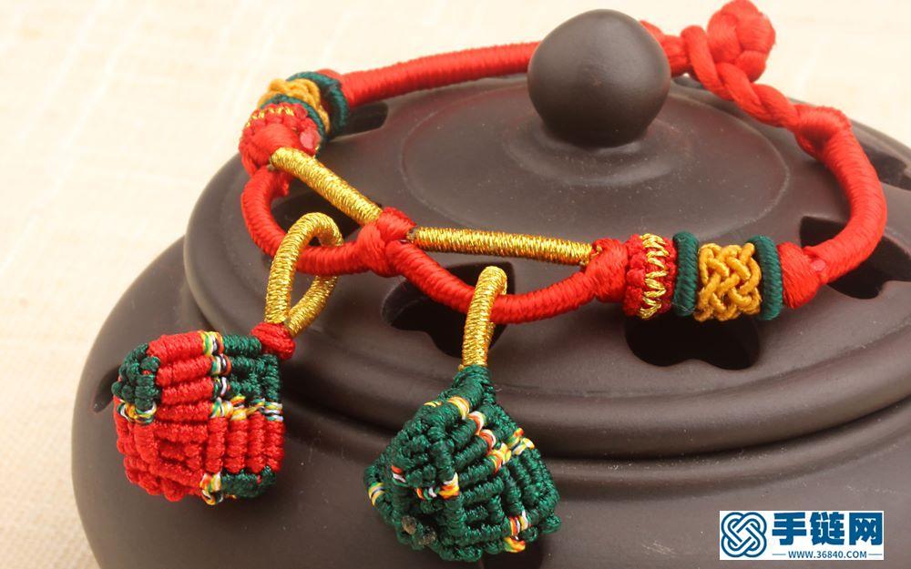 小粽子手绳编织教程视频