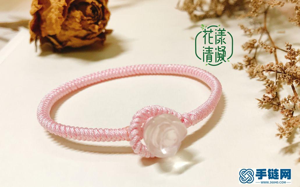 编绳教程-中国结基础,手绳结尾之一